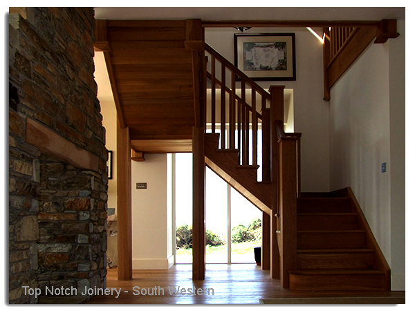 Double Quarter Turn Staircase Design